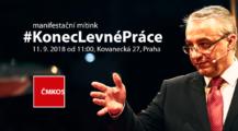 Konec levné práce se blíží: 11. září se v pražské Aréně Sparta opět sejdou zástupci odborových svazů