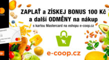 Odměny pro zákazníky nového e-shopu e-coop.cz